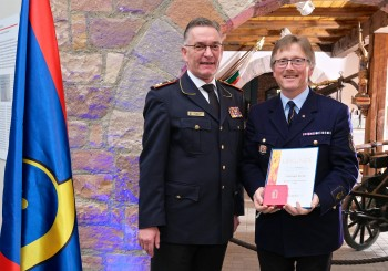DFV-Präsident Hartmut Ziebs und Christoph Becker Foto: Rico Thumser / DFV